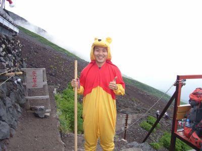 富士山とプーさん