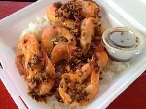 「Romy's Kahuku Prawns & Shrimp」ガーリックシュリンプ