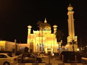 ブルネイ夜のモスク