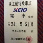 京王電鉄株主優待